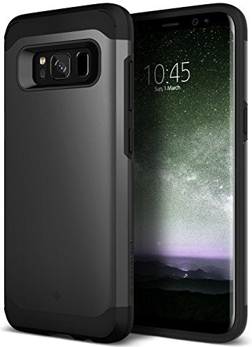 Galaxy S8 Case, Caseology [Legion Series] Heavy Duty Protection Slim Protective Rugged Dual Layer Corner Cushion Design [Black] for Samsung Galaxy S8 (2017)