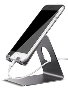 Cell Phone Stand, Lamicall iPhone Dock : Cradle, Holder, Stand For Switch, all Android Smartphone, iPhone 6 6s 7 8 X Plus 5 5s 5c charging, Accessories Desk - Gray