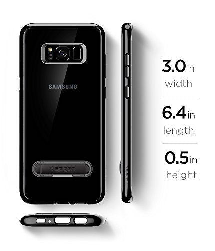the latest 6a532 935bd Spigen Ultra Hybrid S Galaxy S8 Plus Case with Air Cushion Technology and  Magnetic Metal Kickstand for Galaxy S8 Plus (2017) - Midnight Black
