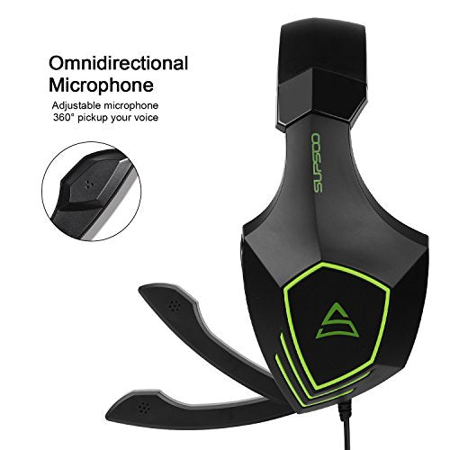 SUPSOO G820 gaming headset for New Xbox One, PS4 controller