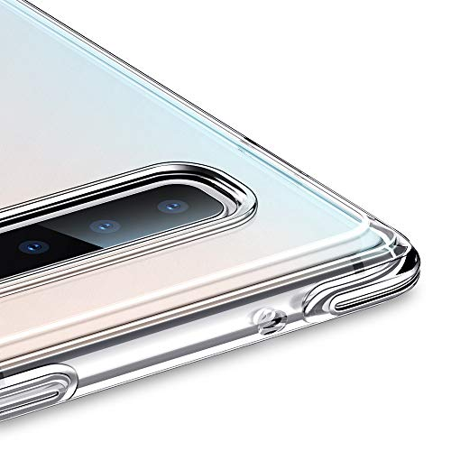ESR Essential Guard Clear Case Compatible with Samsung Galaxy S10 Plus, Soft Flexible Cover Bumper Reinforced Corners, Shock Absorption Scratch Protection for Galaxy S10 Plus- Jelly Clear