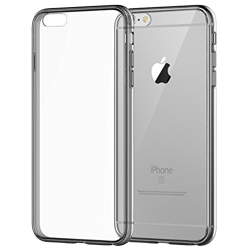 iPhone 6 Case, JETech Apple iPhone 6/6s Case Shock-Absorption Bumper and Anti-Scratch Clear Back for iPhone 6s iPhone 6 4.7 Inch (Grey) - 3195