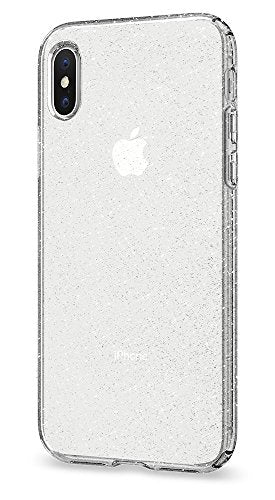 half off 80d09 63f0a Spigen Liquid Crystal iPhone X Case with Slim Protection and Premium  Clarity for Apple iPhone X (2017) - Glitter Crystal Quartz