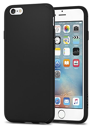 meet 8abd6 97ae0 Spigen Liquid Crystal iPhone 6s Case with Slim Protection and Premium  Clarity for iPhone 6s/6 - Matte Black