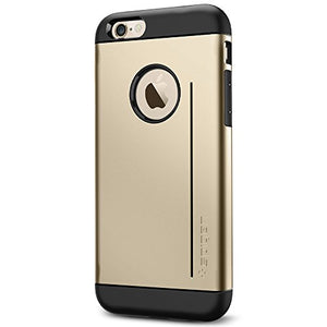 Spigen Slim Armor S iPhone 6 Case with Advanced Drop Protection and Dual Layer Design for iPhone 6S / iPhone 6 - S Champagne Gold