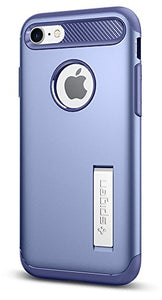 Spigen Slim Armor iPhone 7 / iPhone 8 Case with Kickstand and Air Cushion Technology Hybrid Drop Protection for Apple iPhone 7 (2016) / iPhone 8 (2017) - Violet