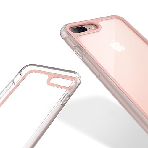 new concept b2c8b 9dddc iPhone 8 Plus Case / iPhone 7 Plus Case Caseology [Coastline Series]  Transparent Clear Slim Protective Scratch Resistant Frosted Frame [Pink]  for ...