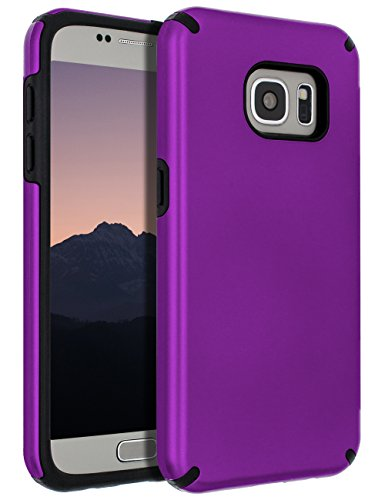 Samsung Galaxy S7 Case,Galaxy S7 Case,SENON Slim-fit Shockproof Anti-Scratch Anti-Fingerprint Protective Case Cover For Samsung Galaxy S7,Purple