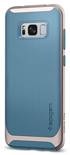 Spigen Neo Hybrid Galaxy S8 Plus Case Herringbone with Flexible Inner Protection and Reinforced Hard Bumper Frame for Galaxy S8 Plus (2017) - Niagara Blue