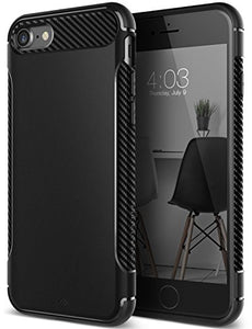 iPhone 7 Case, iPhone 8 Case, Caseology [Vault I Series] Slim Protective Shock Absorbing TPU Military-Grade Armor Corner Cushion Design for Apple iPhone 7 (2016) / iPhone 8 (2017) - Matte Black