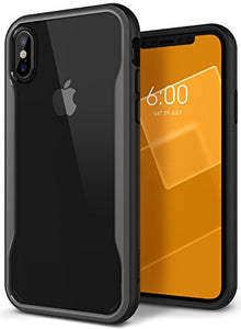 iPhone X Case, Caseology [Coastline Series] Transparent Clear Slim Protective Scratch Resistant Color Contrast Frosted Frame for Apple iPhone X (2017) - Gray