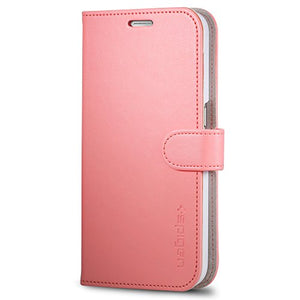 Spigen Wallet S Galaxy S6 Case with Foldable Cover and Kickstand Feature for Galaxy S6 2015 - Pink