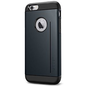 Spigen Slim Armor S iPhone 6 Case with Advanced Drop Protection and Dual Layer Design for iPhone 6S / iPhone 6 - Metal Slate