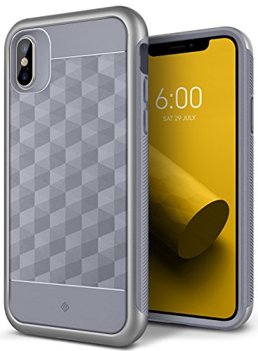 iPhone X Case, Caseology [Parallax Series] Slim Protective Dual Layer Textured Cover Secure Grip Geometric Design for Apple iPhone X (2017) - Ocean Gray