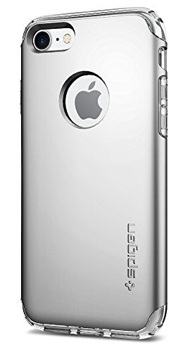 Spigen Hybrid Armor iPhone 7 Case with Air Cushion Technology and Hybrid Drop Protection for Apple iPhone 7 (2016) - Satin Silver