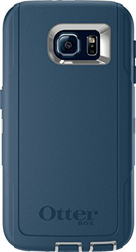 OtterBox DEFENDER SERIES for Samsung Galaxy S6 - Retail Packaging - Casual Blue (Sleet Grey/Dark Deep Water Blue)