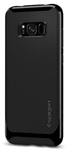 Spigen Neo Hybrid Galaxy S8 Case Herringbone with Flexible Inner Protection and Reinforced Hard Bumper Frame for Samsung Galaxy S8 (2017) - Shiny Black