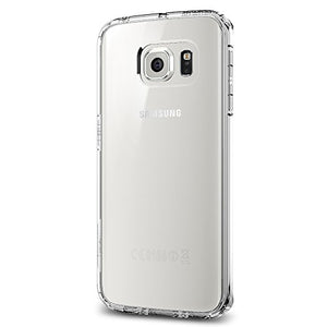 Spigen Ultra Hybrid Galaxy S6 Edge Case with Air Cushion Technology and Hybrid Drop Protection for Galaxy S6 Edge 2015 - Crystal Clear