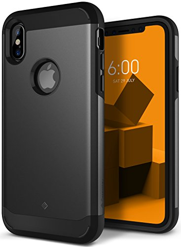 iPhone X Case, Caseology [Legion Series] Slim Heavy Duty Protection Dual Layer Armor for Apple iPhone X (2017) - Charcoal Gray