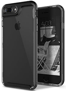 iPhone 8 Plus Case / iPhone 7 Plus Case Caseology [Skyfall Series] Slim Transparent Clear Scratch Resistant Protective Cover for Apple iPhone 8 Plus (2017) / iPhone 7 Plus (2016) - Black