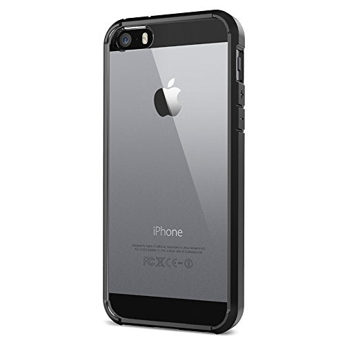 Spigen Ultra Hybrid iPhone 5S / 5 Case with Air Cushion Technology and Hybrid Drop Protection for iPhone 5S / iPhone 5 - Black