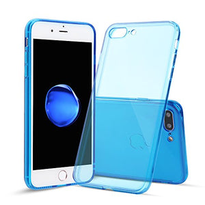 iPhone 7 Plus Case, Shamo's [Crystal Clear] Case [Shock Absorption] Cover TPU Rubber Gel [Anti Scratch] Transparent Clear Back, Soft Silicone, Raised Lip Protection, Impact Resistant, (Dark Blue)