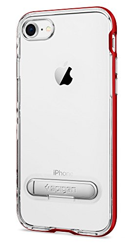 new concept 2f50b 198da Spigen Crystal Hybrid iPhone 7 / iPhone 8 Case with Water-Mark Clear Case  and Magnetic Metal Kickstand for Apple iPhone 7 (2016) / iPhone 8 (2017) -  ...