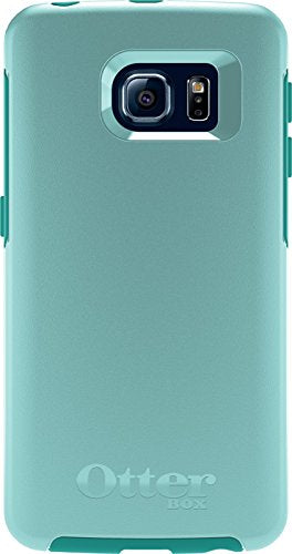 OtterBox SYMMETRY SERIES Case for Samsung Galaxy S6 EDGE - Retail Packaging - AQUA SKY (AQUA BLUE/LIGHT TEAL)