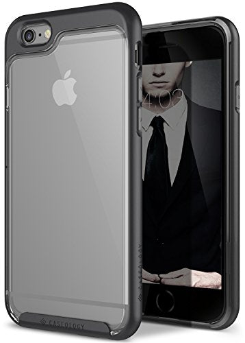 iPhone 6S Plus Case, Caseology [Skyfall Series] Scratch-Resistant Clear Back Cover [Black] [Shock Absorbent] for Apple iPhone 6S Plus (2015) & iPhone 6 Plus (2014) - Black
