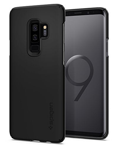 Spigen Thin Fit Galaxy S9 Plus Case with SF Coated Non Slip Matte Surface for Excellent Grip and QNMP Compatible for Galaxy S9 Plus (2018) - Black