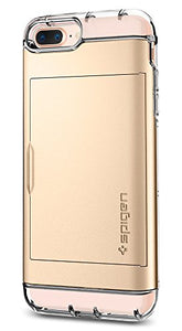 Spigen Crystal Wallet iPhone 7 Plus / iPhone 8 Plus Case with Slim Dual Layer Wallet Design and Card Slot Holder for Apple iPhone 7 Plus (2016) / iPhone 8 Plus (2017) - Champagne Gold