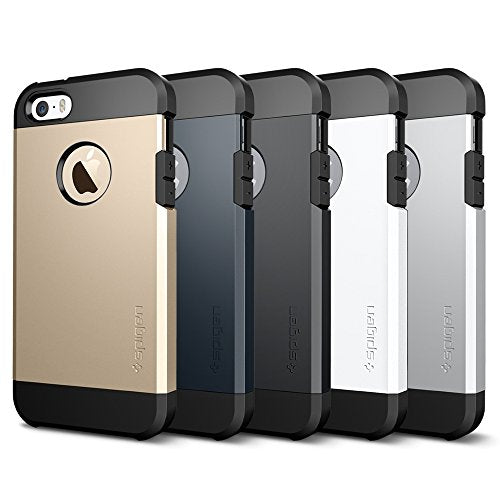 new style f6e9e 66119 Spigen Tough Armor iPhone SE / 5S / 5 Case with Extreme Heavy Duty  Protection and Air Cushion Technology for iPhone SE / iPhone 5S / iPhone 5  - Metal ...