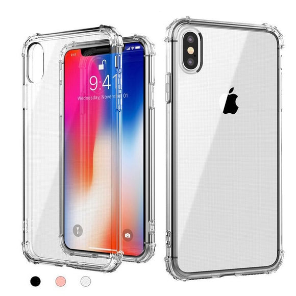 Clear Crystal TPU Gel Back Caes Shockproof Cover For Apple iPhone Xs/ XR/ Xs Max/ X 8 7 6 6s Plus/ 5 5S SE