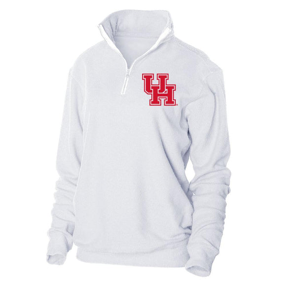Official NCAA University of Houston Cougars Looped Fleece 1/4 Zip Up Sweatshirt