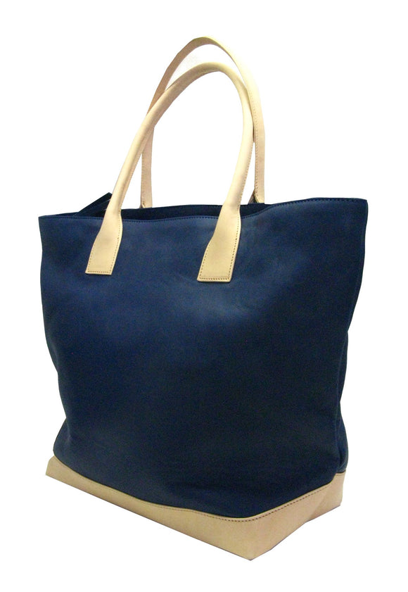 Vachetta Leather Trimmed Tote Large