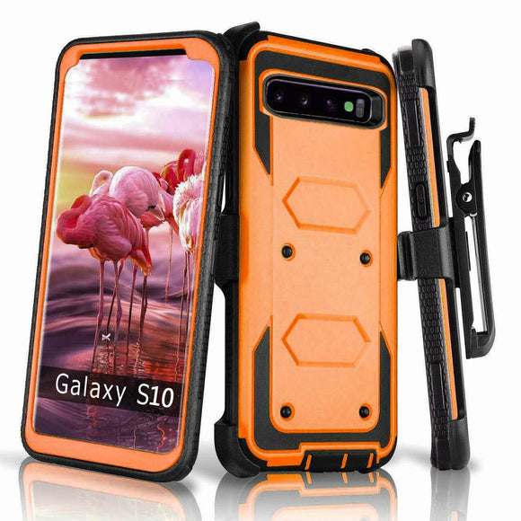 360° Shockproof Full Protective Belt Clip Case Cover For Samsung Galaxy S10e/ S10/ S9/ S8/ Plus/ Note 8/ Note 9