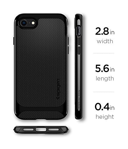 online store cb7b8 39826 Spigen Neo Hybrid Herringbone iPhone 8 Case / iPhone 7 Case with Flexible  Inner Protection and Reinforced Hard Bumper Frame for Apple iPhone 8 (2017)  ...