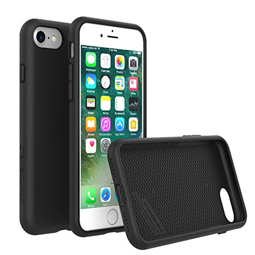 RhinoShield Case for iPhone 8/iPhone 7 [PlayProof] | Heavy Duty Shock Absorbent [High Durability] Scratch Resistant. Ultra Thin. 11ft Drop Protection Rugged Cover - Black