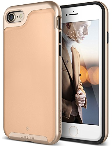 iPhone 7 Case / iPhone 8 Case Caseology [Envoy Series] Slim Premium PU Leather Dual Layer Protective Corner Cushion Design for Apple iPhone 7 (2016) / iPhone 8 (2017) - Leather Beige