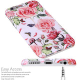 iPhone 6 Case,iPhone 6s Case Flowers for girls, VIVIBIN Shock Absorption Anti Scratch IMD Soft TPU Silicon Gel Protective Cover Case for Regula iPhone 6 / iPhone 6s - 4.7""