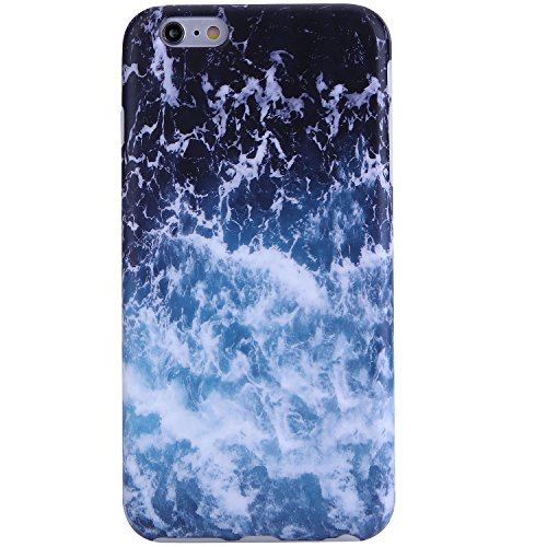 iPhone 6 Case,iPhone 6s Case Sea waves, VIVIBIN Shock Absorption Anti Scratch IMD Soft TPU Silicon Gel Protective Cover Case for Regula iPhone 6 / iPhone 6s - 4.7
