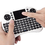 Rii i8+ Mini Wireless 2.4G Backlight Touchpad Keyboard with Mouse for PC/Mac/Android (White)
