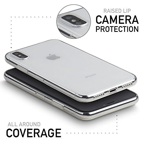 timeless design 916a1 d5332 totallee Clear Thin iPhone X Case, Thinnest Soft Cover Slim Flexible TPU -  For Apple iPhone X (Transparent)