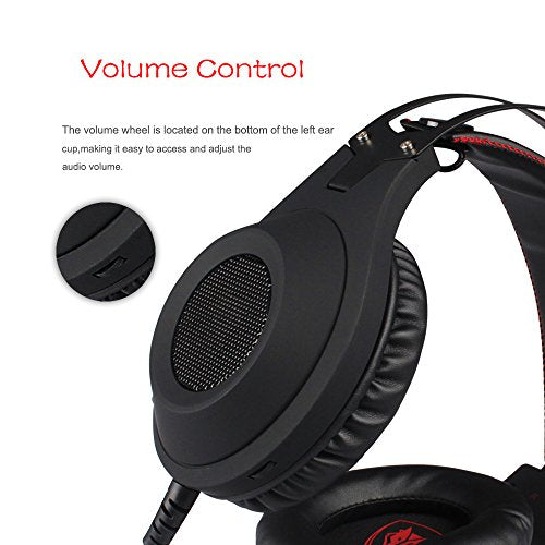 NUBWO PS4 Xbox One PC Headset Gaming, Stereo Gamer Headphones with Mic  Headset Microphone Computer Playstation 4 Xbox 1 Game - Black