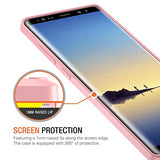 Note 8 Case, Trianium Clarium Series For Samsung Galaxy Note8 Case Clear Hybrid Cover [Scratch Resistant] Ergonomic Cushion Shock-Absorbing TPU Bumper + PC Hard Back Panel - Pink/Clear