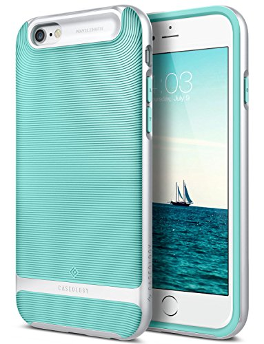 iPhone 6S Plus Case, Caseology [Wavelength Series] Slim Dual Layer Textured Geometric Corner Cushion Design [Mint Green] for Apple iPhone 6S Plus (2015) & iPhone 6 Plus (2014)