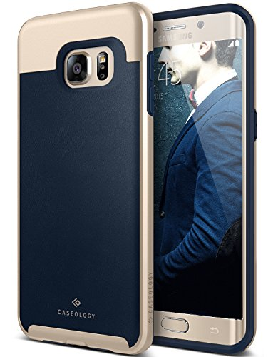 Galaxy S6 Edge Plus Case, Caseology [Envoy Series] Classic Rich Texture Leather [Leather Navy Blue] [Luxury Slim] for Samsung Galaxy S6 Edge Plus