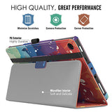 MoKo Case for All-New Amazon Fire HD 8 Tablet (7th Generation, 2017 Release Only) - Slim Folding Stand Cover for Fire HD 8, Totoro (with Auto Wake / Sleep)