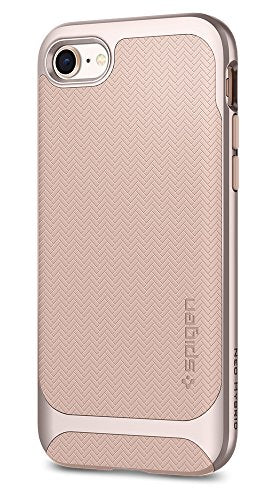 Spigen Neo Hybrid Herringbone iPhone 8 Case / iPhone 7 Case with Flexible Inner Protection and Reinforced Hard Bumper Frame for Apple iPhone 8 (2017) / iPhone 7 (2016) - Pale Dogwood