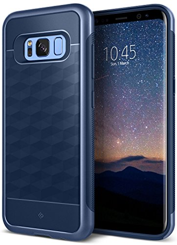 Galaxy S8 Case, Caseology [Parallax Series] Slim Dual Layer Protective Textured Geometric Cover Corner Cushion Design [Navy Blue] for Samsung Galaxy S8 (2017)